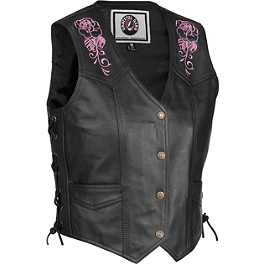 River Road Women's Grateful Dead Steal Your Face Vest - River Road Women's Grateful Dead Steal Your Face Chaps