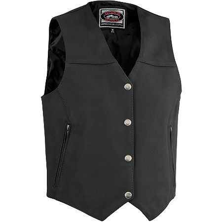 River Road Women's Granite Leather Vest - Main