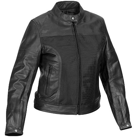 River Road Women's Pecos Leather And Mesh Jacket - Main