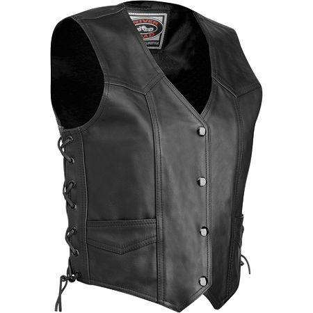 River Road Women's Plain Leather Vest - Main