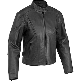River Road Women's Race Vented Leather Jacket - River Road Women's Cruiser Leather Jacket