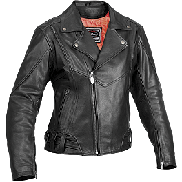 River Road Women's Sapphire Jacket - Power Trip Women's Leather Scarlet Jacket