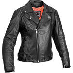 River Road Women's Sapphire Jacket - Leather Motorcycle Riding Jackets