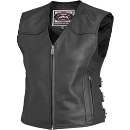 River Road Women's Plains Leather Vest - River Road Women's Vapor Perforated Leather Vest