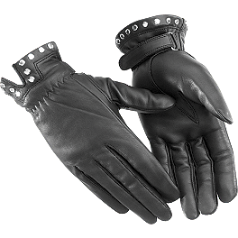 River Road Women's Tallahassee Leather Gloves - HJC IS-2 Helmet - Flora