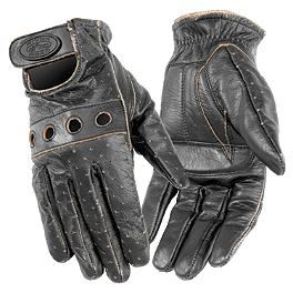 River Road Women's Outlaw Vintage Gloves - Icon Women's Hella Leather Gloves