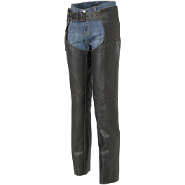 River Road Women's Vintage Leather Chap - Icon Women's Hella Textile Chaps