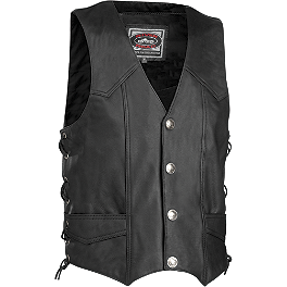 River Road Wyoming Leather Vest - Pokerun Cutlass 2.0 Leather Vest