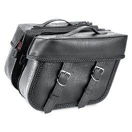 River Road Quantum Series Zip Off & Quick Release Compact Slant Saddlebags - River Road Vandal Leather Vest