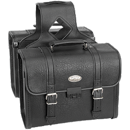 River Road Quest Series Rigid Zip Off Box Saddlebags With Security Lock - River Road Distressed Drifter Jacket