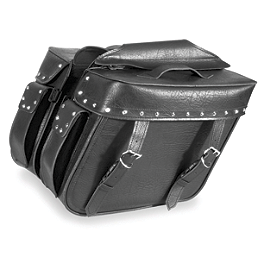 River Road Quantum Series Zip Off & Quick Release Large Slant Saddlebags - River Road Alloy Leather Jacket