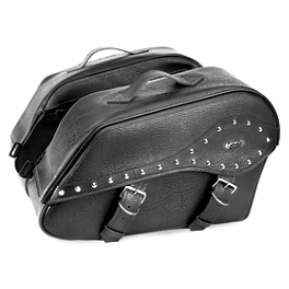 River Road Quantum Series Zip Off & Quick Release Large Windswept Saddlebags - River Road Quest Series Rigid Zip Off Box Saddlebags With Security Lock