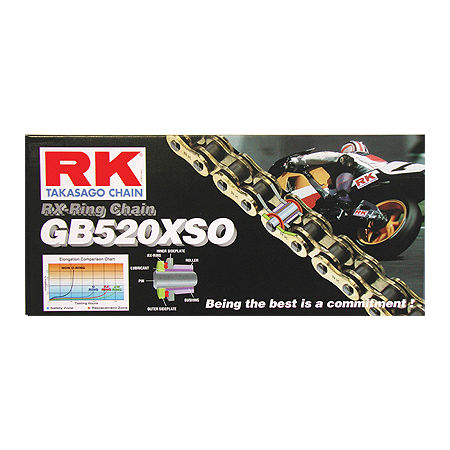 RK 520 GBXSO X-Ring Gold Race Chain - 120 Links - Main