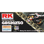 RK 520 GBXSO X-Ring Gold Race Chain - 120 Links -  Motorcycle Drive
