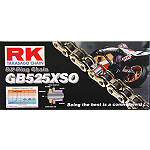 RK 525 GBXSO X-Ring Gold Race Chain - 120 Links - 525 Cruiser Belts and Chains