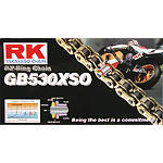 RK 530 GBXSO X-Ring Gold Race Chain - 120 Links - 530 Motorcycle Chains and Master Links