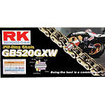 RK 520 GBGXW Series Gold Chain - 120 Links - Cruiser Belts and Chains
