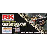 RK 525 GBGXW Series Gold Chain - 120 Links - 525 Cruiser Belts and Chains