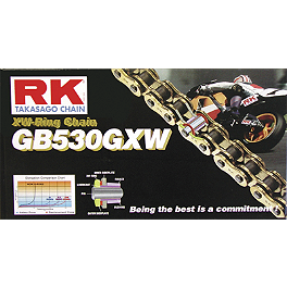 RK 530 GBGXW Series Gold Chain - 120 Links - Vortex Sprocket & Chain Kit 530 - Black