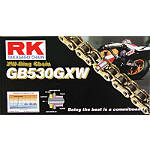 RK 530 GBGXW Series Gold Chain - 140 Links -  Dirt Bike Chains and Master Links