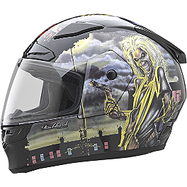 Rockhard Full Face Helmet - Iron Maiden - Sparx Tracker Helmet - Demonatrix