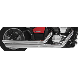 Rush Chrome Series 2:2 Full System Exhaust - Slash Tip - 2005 Honda VTX1300R Vance & Hines Cruzers Exhaust