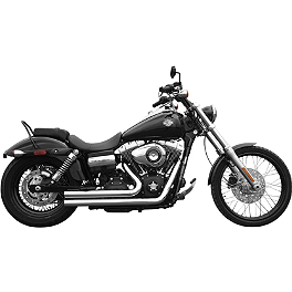 Rush Short Series Full System - Slash Down - Vance & Hines Shortshots Staggered Exhaust - Chrome