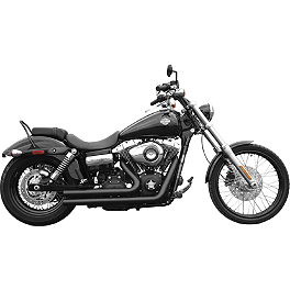 Rush Short Series Full System - Slash Down - 1998 Harley Davidson Sportster Sport 1200 - XL1200S Vance & Hines Straightshots Exhaust - Chrome