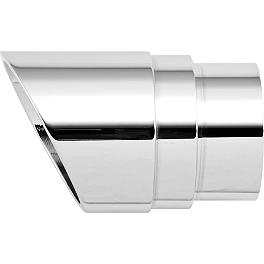 Rush Crossover Series Full System Replacement Tip - Angle Cut - Baron Family Jewels Mini Scalloped Exhaust Tip - Chrome