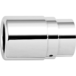 Rush Crossover Series Full System Replacement Tip - Straight Cut - Honda Genuine Accessories Chrome Exhaust Tips With Gl Logo