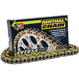 Renthal RR4 520 SRS Roadrace Chain - 120 Links - 2009 Kawasaki ZX1000 - Ninja ZX-10R Renthal Front Sprocket 520