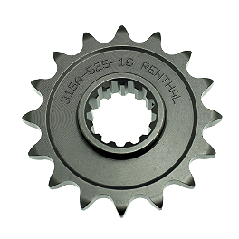 Renthal Front Sprocket 525 - 2008 Suzuki SV650SF Sunstar Steel Rear Sprocket 525