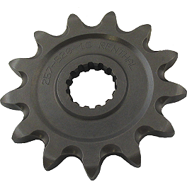 Renthal Front Sprocket - 2005 Suzuki DRZ400S Renthal 520 R1 Gold Race Chain - 120 Links