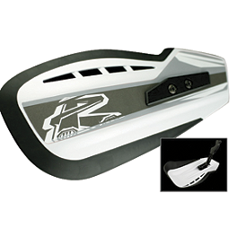 Renthal Moto Handguards White - 2008 Suzuki LT-R450 Blingstar Iron Cross Front Bumper - Textured Black