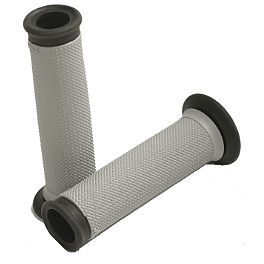 Renthal Road Race Dual Compound Grip - Grey/Black - 2009 Kawasaki EX650 - Ninja 650R Renthal Rear Sprocket 520