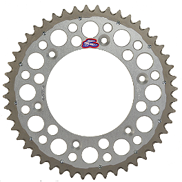 Renthal Twin Ring Rear Sprocket - 2000 KTM 200MXC Braking Batfly Oversized Brake Rotor Kit - Front
