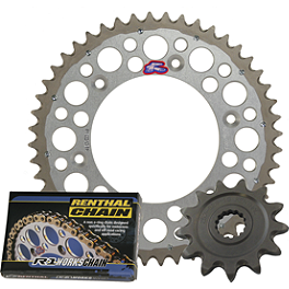 Renthal Twin Ring Sprocket Kit - 1990 Kawasaki KX500 Sunstar Chain & Works Z Sprocket Combo