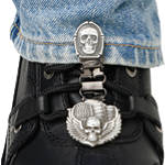 Ryder Clips Pant/Boot Clip - Bones & Skull - Ryder Clips Cruiser Riding Gear