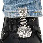 Ryder Clips Pant/Boot Clip - Flames - Dirt Bike Boot Accessories