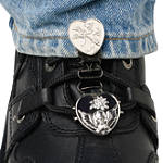 Ryder Clips Pant/Boot Clip - Chrome Heart & Skull - Dirt Bike Boot Accessories