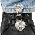 Ryder Clips Pant/Boot Clip - Heart & Skull - Dirt Bike Boot Accessories