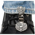 Ryder Clips Pant/Boot Clip - Skull & Wings - Cruiser Boot Accessories