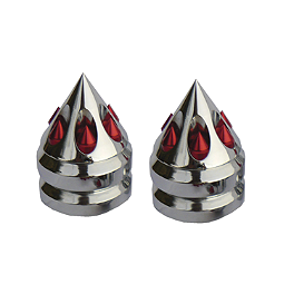 Sixty61 Gatling Bar Ends For Honda/Yamaha - Keiti Gas Cap Pad - Honda Red/Silver Wing