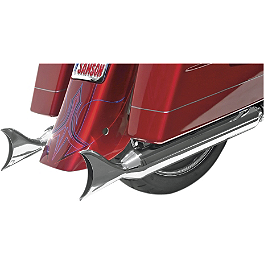 "Samson 4"" Longtail Slip-On Exhaust - Samson Silver Bullet 2-1/4"