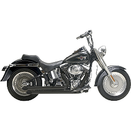 Samson Legend Series Boloney Cut Exhaust - 2012 Harley Davidson Fat Boy - FLSTF Vance & Hines Big Shots Long Exhaust - Chrome