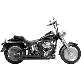 Samson Legend Series Boloney Cut Exhaust - 2008 Harley Davidson Softail Custom - FXSTC Samson True Dual Crossover Full System With Upsweep Longtail Mufflers