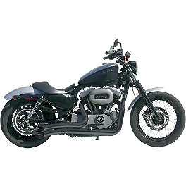 Samson Legend Series Hell Raisers Exhaust - 2008 Harley Davidson Sportster Custom 883 - XL883C Vance & Hines Big Radius 2-Into-2 Exhaust - Black