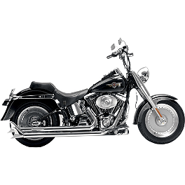 Samson Legend Series Longhorns Exhaust - 2011 Harley Davidson Softail Deluxe - FLSTN Samson True Dual Crossover Full System With Upsweep Longtail Mufflers
