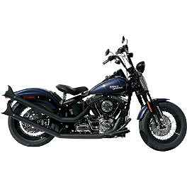 Samson Legend Series Renegades Exhaust - 2011 Harley Davidson Blackline - FXS Samson True Dual Crossover Full System With Upsweep Longtail Mufflers