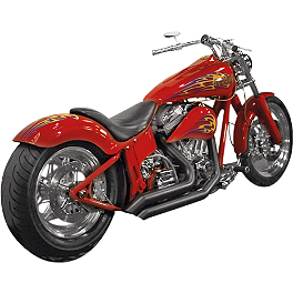 Samson Legend Series Rip Saws Exhaust - 2008 Harley Davidson Night Train - FXSTB Samson True Dual Crossover Full System With Upsweep Longtail Mufflers